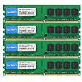 TECMIYO DDR2 PC2-6400 Ram DDR2 800 Non ECC Unbuffered 1.8V CL6 2RX8 Dual Rank 240 Pin UDIMM Desktop Memory Ram Module