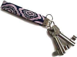 Miniblings Schlüsselanhänger Upcycling Unikat Vintage lila rosa - Handmade Modeschmuck I Anhänger Schlüsselring Schlüsselband Keyring