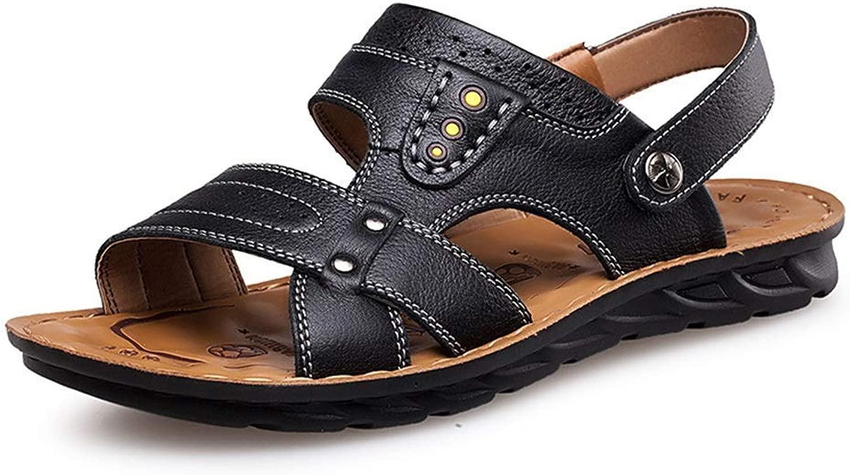 BAIF moda Seals Comfort RivetPantofole classeiche da Decorazione Pantofole da Uomo (Estate, Coloreee  Nero, Taglia  8.5 UK)