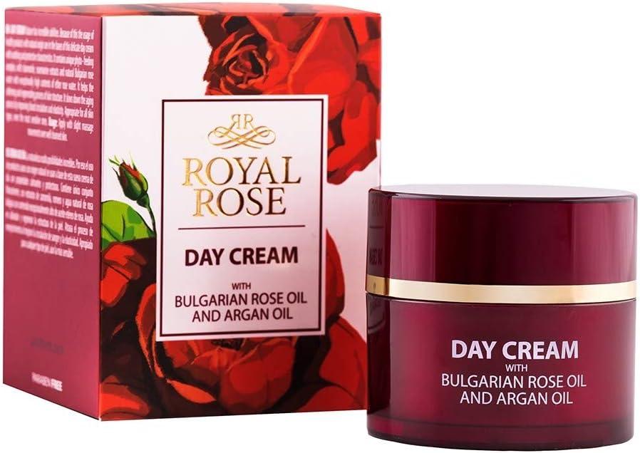 Royal Rose Crema de día con aceite de rosa de Bulgaria y aceite de argán, 50ml