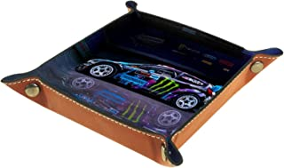 ASDWA Dice Tray,Folding PU Leather Rolling Tray Trays for Dice Games Home Storag Racing car 8x8 in