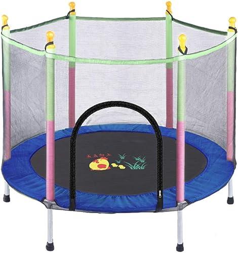 preferente Trampolín de 55 Pulgadas con Caja de Seguridad, Seguridad, Seguridad, Interior o Exterior para Niños, portátil, Entrenamiento con Ejercicios cardiovasculares (Color   azul)  diseño único