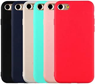 iPhone 5/5S/SE Case, Mixneer Candy Color Phone Case Fashion Cute Simple Solid Soft TPU Back Cover for Apple iPhone 5/5S/SE - Pink