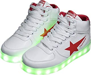 Led Light Up Shoes for Men Women and Kids Flashing Luminous Glowing Sneakers for Christmas Party
