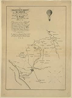 Francesco Arban di Lione areonauta espertissimo esegui il suo dodicesimo volo in Roma il di 14 aprile dell' Anno 1846 ./Spinetti dis; lit. Santarelli.