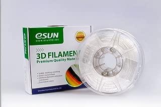 eSUN 1.75mm ePC Filament Natural 0.5kg(1.1lb) Spool for Makerbot, Reprap, UP, Afinia, Flash Forge and All FDM 3D Printers, Semi-Transparent 1.75mm ePC