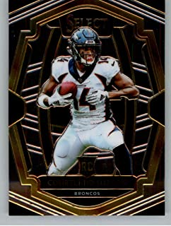 2018 Select Football #142 Courtland Sutton Denver Broncos Premier Level RC Rookie Card Official NFL Trading Card From Panini