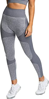 LENXH Women's Tight Yoga Trousers Moisture Sports Fitness Pants Sexy Hip Pants Seamless Simple Trousers