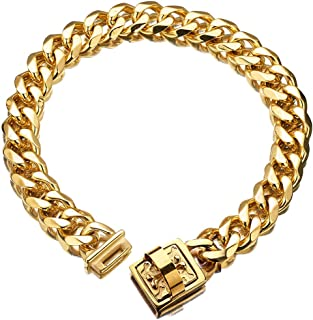 thick cuban link dog collar