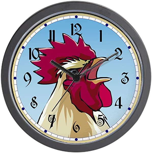 CafePress Crowing Rooster Unique Decorative 10 Wall Clock