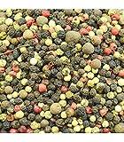 5 pimientas (negra, blanca, rosa, verde, jamaica) bote Pet de 380 gramos la Barraca