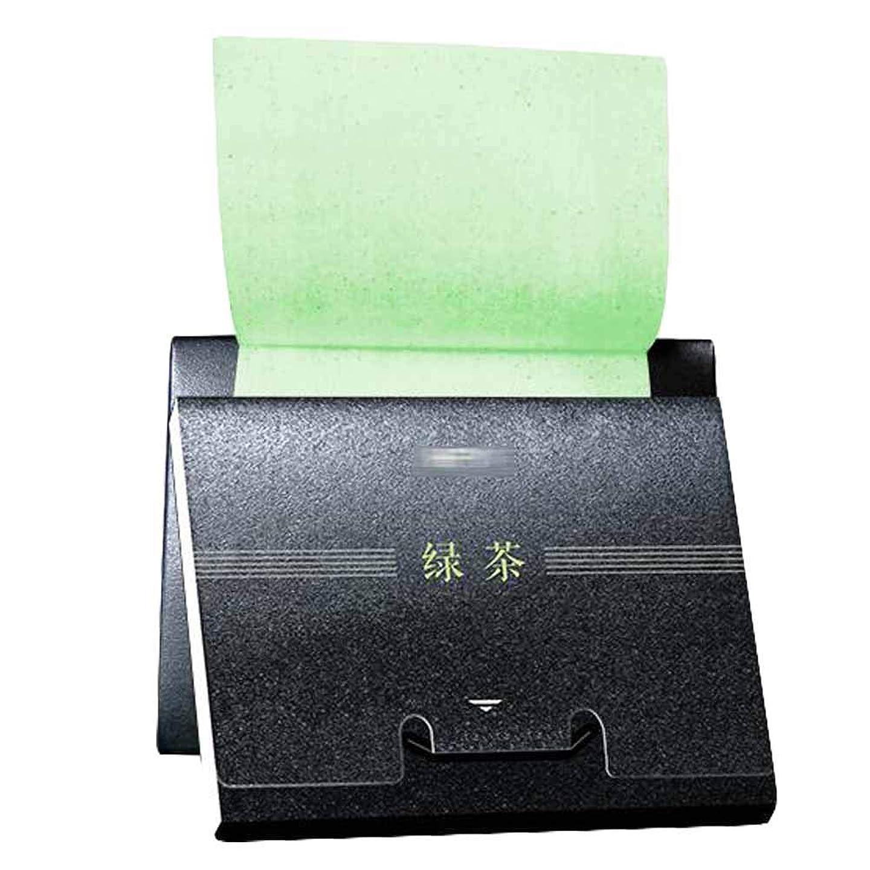 中級汗納税者緑茶男性女性オイル吸収シート、300シート