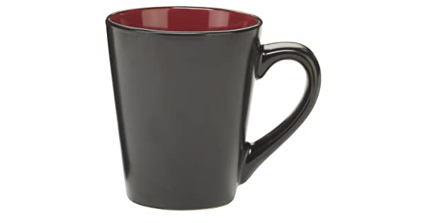 Red Cuisinart CDST1-MGR Melle Collection Stoneware Open Stock Round Mug 12-Ounce