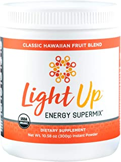 Inspire Organics Light Up Daily Plant Based Superfoods Energy and Stress Supplement Vegan Pre Workout Energy Drink for Men & Women (30 Servings, Powder) Focus, Stress, Stamina & Recovery