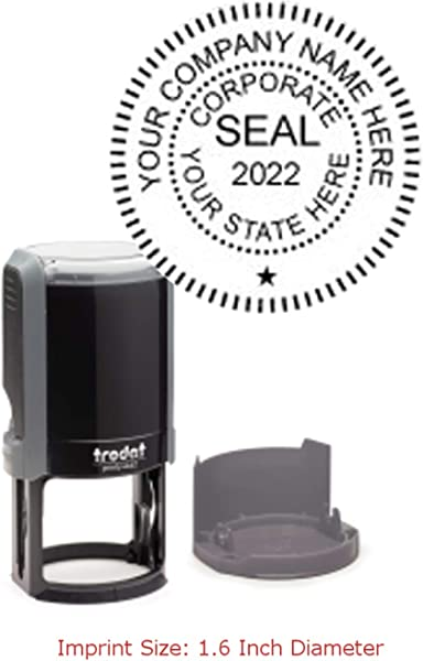 Trodat Printy Stamp Seal For A Corporation With Self Inking Function 1 6 X 1 6 Inches Eco Gray 1 Count 4642