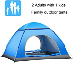 Campingtens Automatic Seconds Pop Up Tent for 2 Person Couple Tents Lightweight Tent with Package Bag, Blue Windproof and UV Protection Family Camping Tent for Outdoor Sports