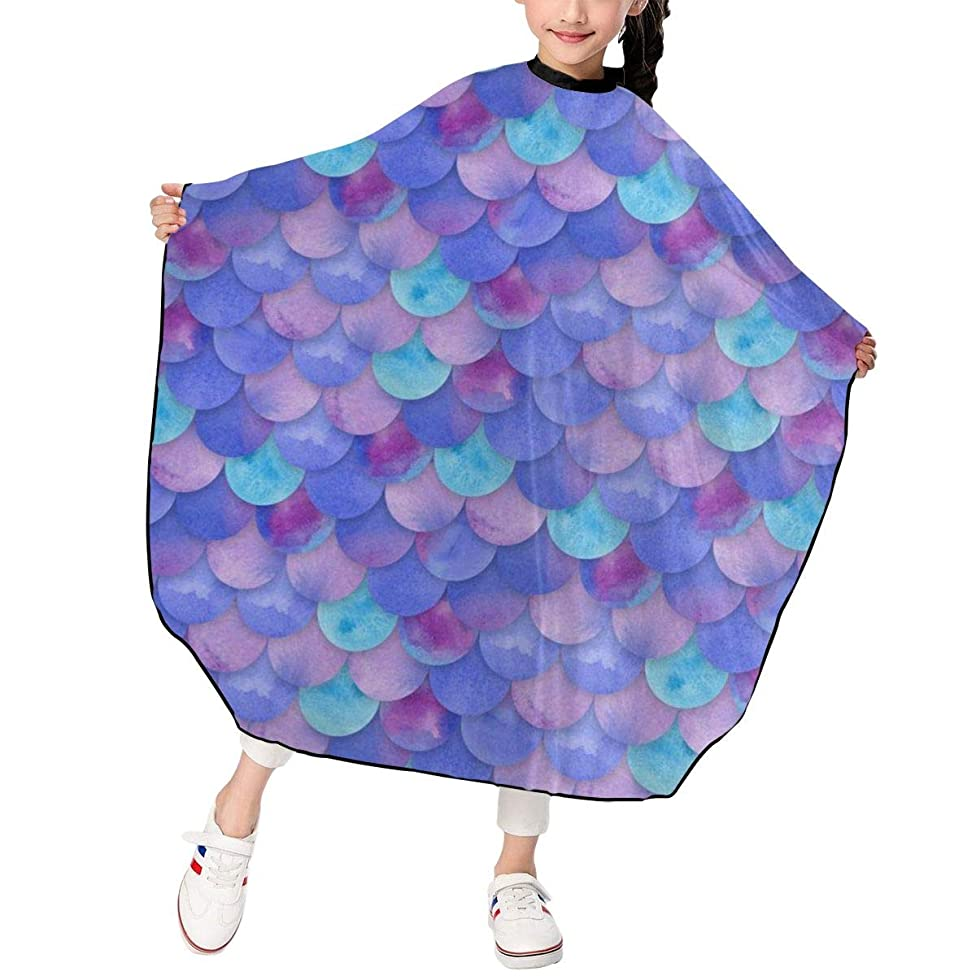 Kids Mermaid Scales Best Haircut Apron Special Haircut Barber Cape Cover Waterproof For Haircut Styling Smock Cover Cloth
