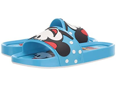Mini Melissa Mel Beach Slide + Mickey and Friends II (Little Kid/Big Kid) (Blue) Girl