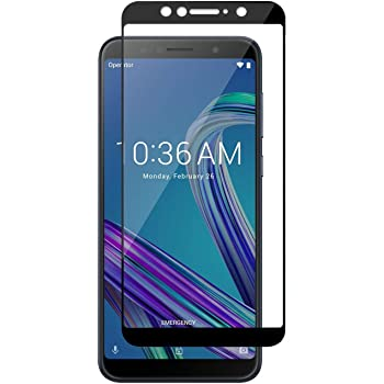 Nishtech® Edge to Edge 11D Tempered Glass Screen Protector for Asus Zenfone Max Pro M1 with installation kit