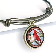 Victorian Cardinal charm bracelet