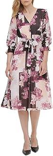 Calvin Klein Women's Long Sleeve Button Front Dress
