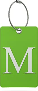Luggage Tag Initial – Fully Bendable Tag w/ Stainless Steel Loop (Letter M)