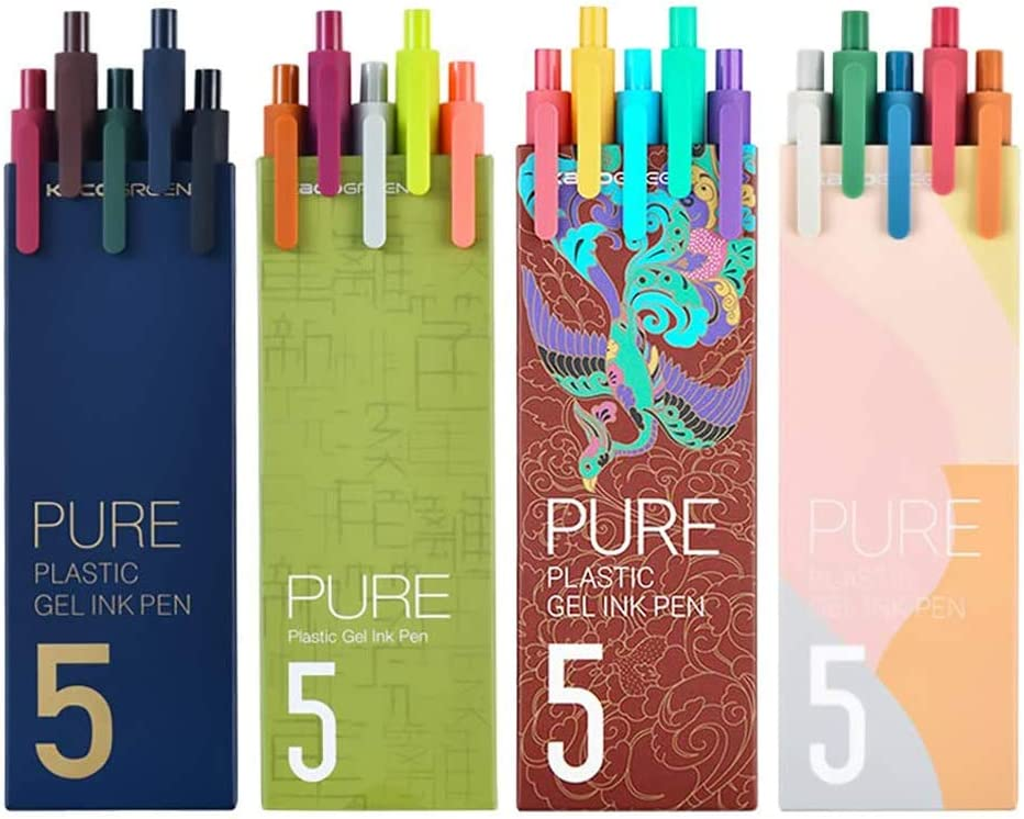 4 Packs KACO Gel Ink Pens San Francisco Mall color Ext Retractable 20 Ranking TOP8 ink different