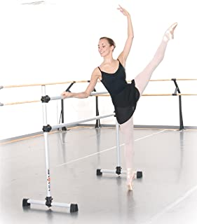 Vita Vibe - Prodigy Series Portable Double Aluminum Freestanding Ballet Barre, Stretch/Dance Bar - USA Made - 4 FT - 8 FT