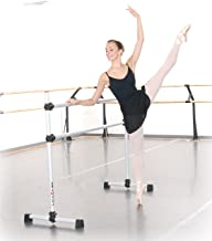 Vita Vibe - Prodigy Series Portable Double Aluminum Freestanding Ballet Barre, Stretch/Dance Bar - USA Made - 4 FT - 8 FT