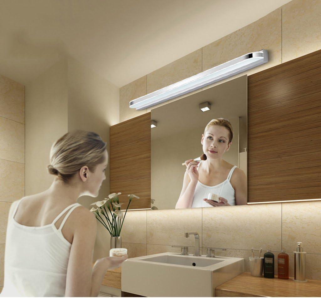 &Spiegelleuchte Spiegel Front Ligh, LED Wasserdicht Anti-Fog Bad Badezimmer Spiegel Lampe Wandleuchte Einfache moderne Spiegel Schrank Lampe Nachttisch Wandleuchte (Farbe : Weißes Licht-7W/40cm) Weißes Licht-18w/80cm