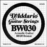 D'Addario BW030 - Cuerda para guitarra acústica de bronce.030