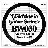 D'Addario ダダリオ アコースティックギター用バラ弦 80/20ブロンズ .030 BW030 【国内正規品】