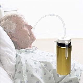 ASZX Elderly Care Cup, auslaufsichere Thermoflasche, bettlägerige Trinkhilfen Strohbecher, flüssige Diät für ältere Erwach...
