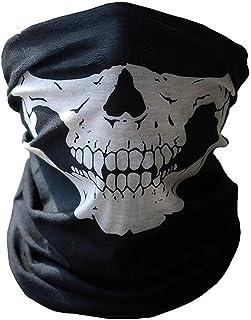 WOVTE フェイスマスク バンダナ フェスカバー サバゲーマスク 防風 呼吸しやすい 二枚セット