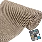 HOME GENIE Original Drawer and Shelf Liner, Non Adhesive Roll, 20 Inch x 20 FT, Durable and Strong, Grip Liners for Drawers, Shelves, Cabinets, Pantry, Storage, Kitchen and Desks, Light Taupe