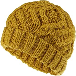 Knitted Hats for Women ,Soft Knit Hat Autumn and Winter Wooly Cap