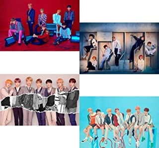 Bighit BTS Love Yourself 結 Answer [S+E+L+F Version] 4 Unfolded Official Posters in Tube (23.4 X 16.4 inch)