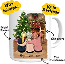 Custom Best Friend Coffee Mug - Personalized Christmas Gifts for Women Perfect Photo Gift For Friend Besties Friendship BFF Bridesmaid Graduation Birthday Moving Away