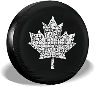 Love Taste Canadian National Anthem Spare Tire Cover Polyester Waterproof Dust-Proof Universal Spare Wheel Tire Cover Fit for Jeep,Trailer, RV, SUV and Many Vehicle DIY