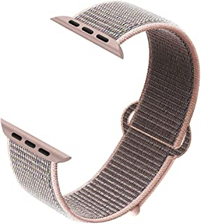 NUKELOLO Compatible for Apple Watch Band 38mm 40mm 42mm 44mm,Nylon Strap for iWatch Series 5/4/3/2/1