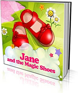 """Personalized Story Book by Dinkleboo""""The Magic Shoes"""" Girls 2 to 8 Years Old - Story About Your Daughter's Magical Adventu..."""