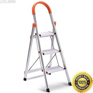 COLIBROX--Non-slip 3 Step Aluminum Ladder Folding Platform Stool 330 lbs Load Capacity New. gorilla ladders aluminum 3-step ultra-light step stool. step ladder home depot. ladders at harbor freight.
