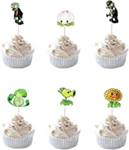 Party Hive 24pc PVZ Plant Zombies Cupcake Toppers for Birthday Party Event Decor