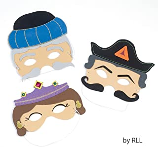 Amazing Foam Purim Masks Set of 3 - Esther, Haman & Mordechai