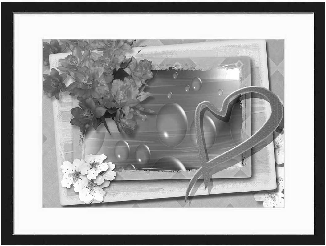 Wood ! Super beauty product restock quality top! Framed Canvas Artwork Seattle Mall Home Decore Art White 20x Wall Black