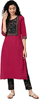 ZIYAA Women's Crepe Straight Salwar Suit Set