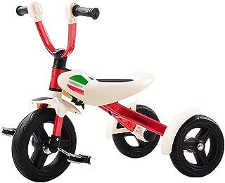 Triciclos- niños 3-6 años de Edad bebé Bicicleta Plegable Preescolar Bicicleta portátil niños (Color : Rojo)