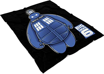 UTAMUGS Big Hero 6 Tardis Dr Who Soft Fleece Throw Blanket, Cute Big Hero 6