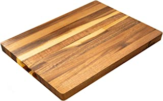 Villa Acacia Wood Cutting Board, Handmade Solid Wooden Design, 17 x 12 Inches, Medium