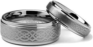 celtic wedding band sets his and hers